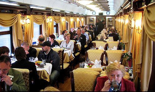Americans Check Out Iran's Golden Eagle Danube Express Tourist